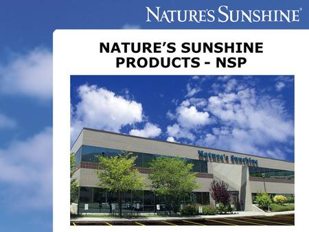 NATURE'S SUNSHINE PRODUCTS - NSP