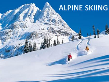 Alpine Skiing. Very easy Easy Hard Very hard (FIS)
