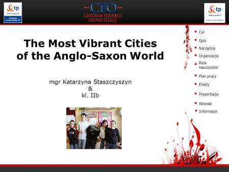 The Most Vibrant Cities of the Anglo-Saxon World