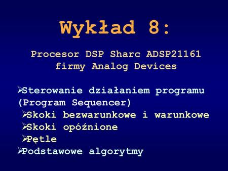 Procesor DSP Sharc ADSP21161 firmy Analog Devices