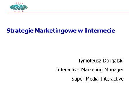 Strategie Marketingowe w Internecie