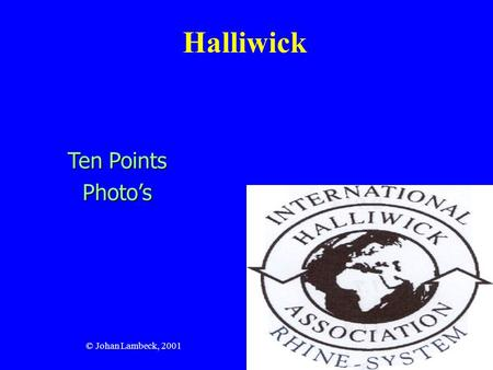 Halliwick Ten Points Photo's © Johan Lambeck, 2001.
