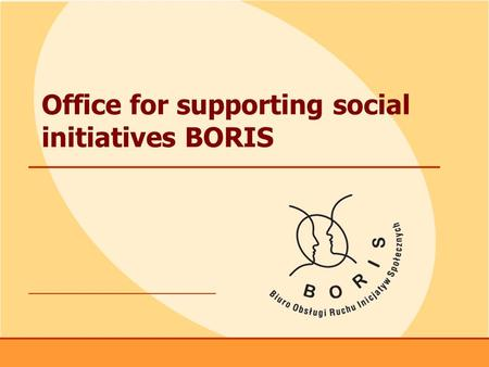 Www.boris.org.pl 1 Office for supporting social initiatives BORIS.