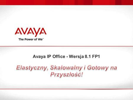 Avaya IP Office - Wersja 8