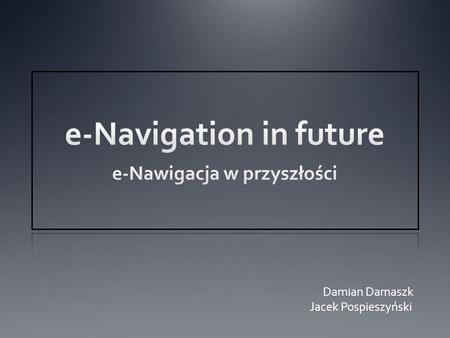 e-Navigation in future
