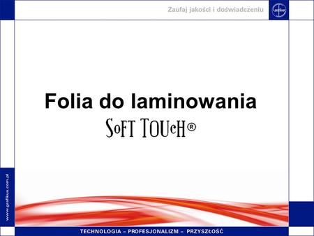 Folia do laminowania.