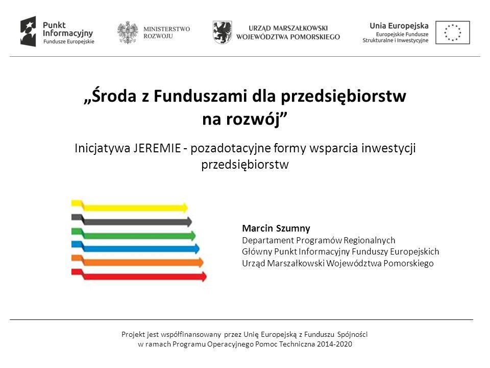 Projekt jest współfinansowany przez Unię Europejską z Funduszu Spójności w ramach Programu Operacyjnego Pomoc Techniczna 2014-2020 D O T A C J E P O Ż Y C Z K I  bezzwrotne  na ściśle określone cele  dłuższa procedura przyznawania środków  sporo formalności  ograniczone budżetem konkursu  zwrotne  większa swoboda w określaniu celu  krótsza procedura przyznawania środków  mniej formalności  korzystniejsze warunki  trafiają do większej grupy odbiorców 12