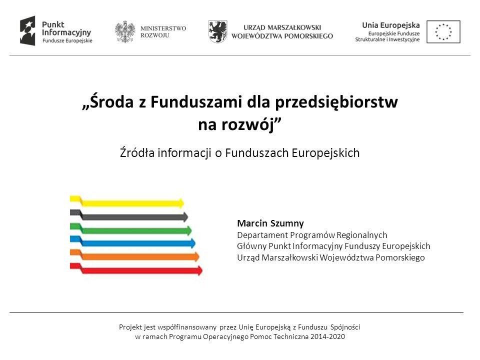 Projekt jest współfinansowany przez Unię Europejską z Funduszu Spójności w ramach Programu Operacyjnego Pomoc Techniczna 2014-2020 17