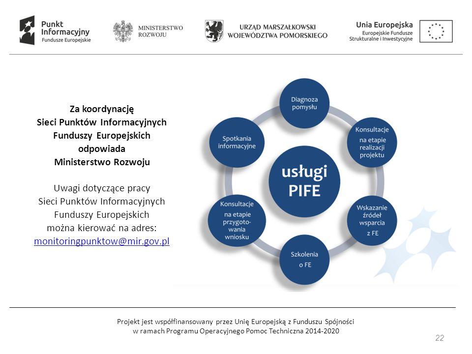 Projekt jest współfinansowany przez Unię Europejską z Funduszu Spójności w ramach Programu Operacyjnego Pomoc Techniczna 2014-2020 23 Przydatne strony internetowe: www.mr.gov.pl www.funduszeeuropejskie.gov.pl www.pois.gov.pl www.poir.gov.pl www.power.gov.pl www.popc.gov.pl www.popt.gov.pl www.rpo.pomorskie.eu www.pomorskiewunii.pl