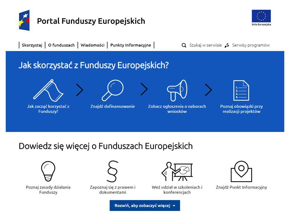 Projekt jest współfinansowany przez Unię Europejską z Funduszu Spójności w ramach Programu Operacyjnego Pomoc Techniczna 2014-2020 25 Jak skorzystać z Funduszy Europejskich.