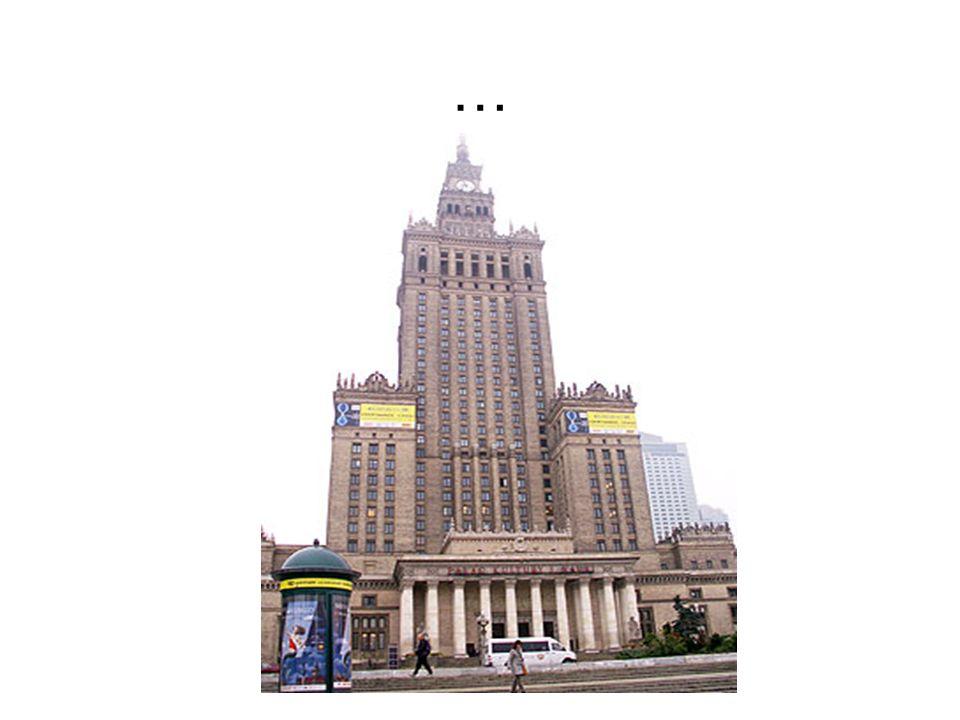 Deutsch  Sozialistischer Realismus 42-stöckigen Palast der Kultur im Zentrum von Warschau war Stalins Idee - ein Geschenk des sowjetischen Volkes für die polnische.
