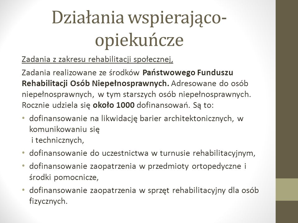 Opieka całodobowa dla osób starszych Zakłady opiekuńczo – lecznicze, Zakłady Opiekuńczo - Lecznicze działają na podstawie umowy z Narodowym Funduszem Zdrowia.