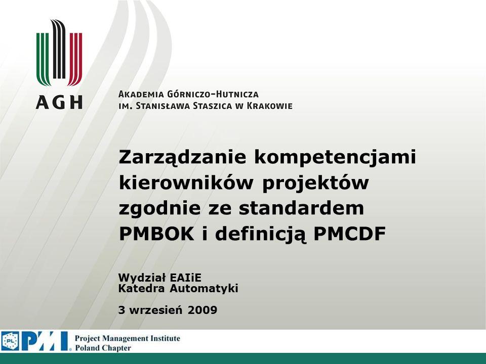 Plan prezentacji Przedstawienie pojęcia Zarządzanie kompetencjami –cele –wdrożenie –rozwój kompetencji Kompetencje kierowników projektów - PMCD Framework –struktura –model kompetencji Propozycja systemu informatycznego Kompetencje kierowników Pojęcie kompetencji Zarządzanie