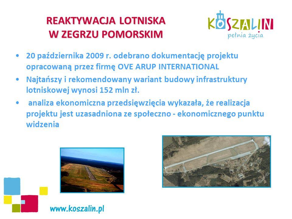 """REAKTYWACJA LOTNISKA W ZEGRZU POMORSKIM Lotnisko będzie silnym bodźcem dla wzrostu gospodarczego poprzez: otwarcie regionu pod względem dostępności komunikacyjnej z kraju i zagranicy w sytuacji opóźniającej się realizacji krajowej sieci dróg szybkiego ruchu i połączeń kolejowych przyciąganie i lokalizację nowych inwestycji krajowych i zagranicznych, dla których dostępność transportu lotniczego ma duże znaczenie pojawienie się nowych miejsc pracy polepszenie dostępu do rynków krajowych i międzynarodowych zapobieganie """"uciekaniu rozwijających się firm z regionu szansę na lepsze wykorzystanie potencjału turystycznego i związany z nim wzrost ruchu turystów i kuracjuszy szybki dostęp do nowoczesnego systemu ratownictwa zwiększenie mobilności mieszkańców regionu"""