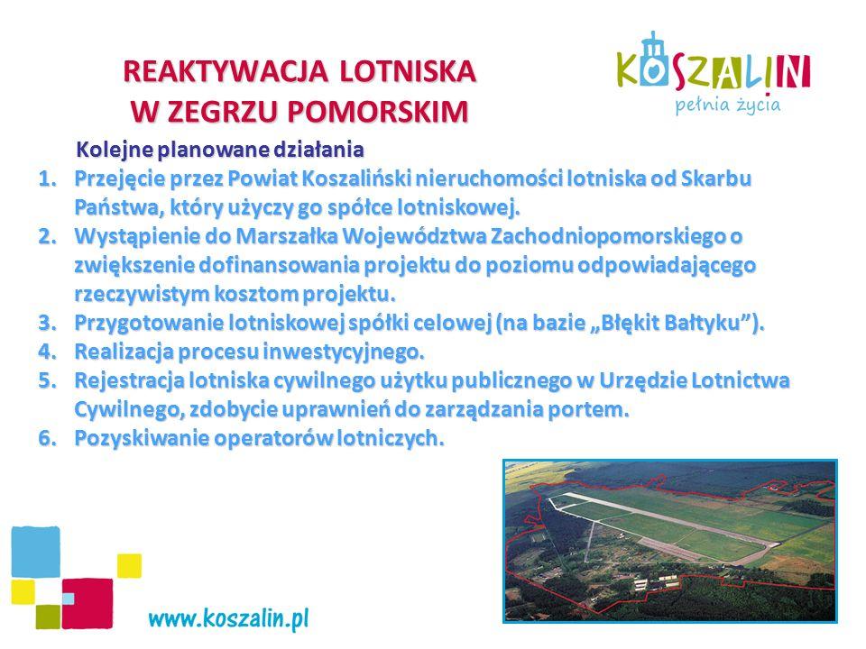 """Priorytet Poprawa infrastruktury związanej z rozwojem gospodarczym i jakością życia Kontynuacja uzbrojenia Podstrefy """"Koszalin SSSE,- 5 980 tys."""