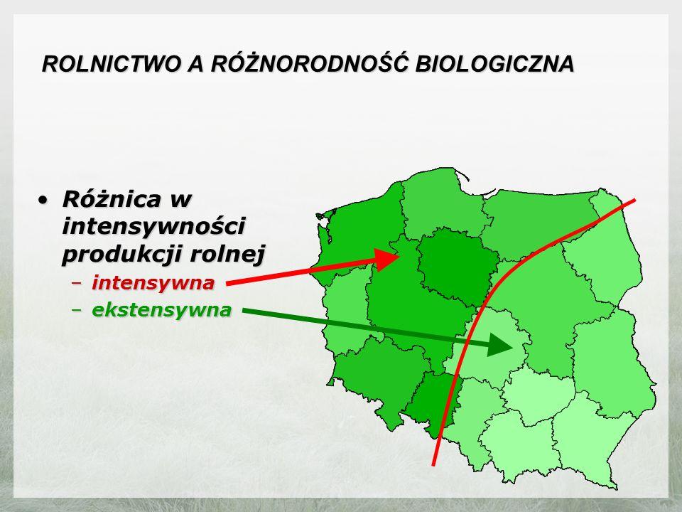 ROLNICTWO A RÓŻNORODNOŚĆ BIOLOGICZNA Potencjalne występowanie czajkiPotencjalne występowanie czajki