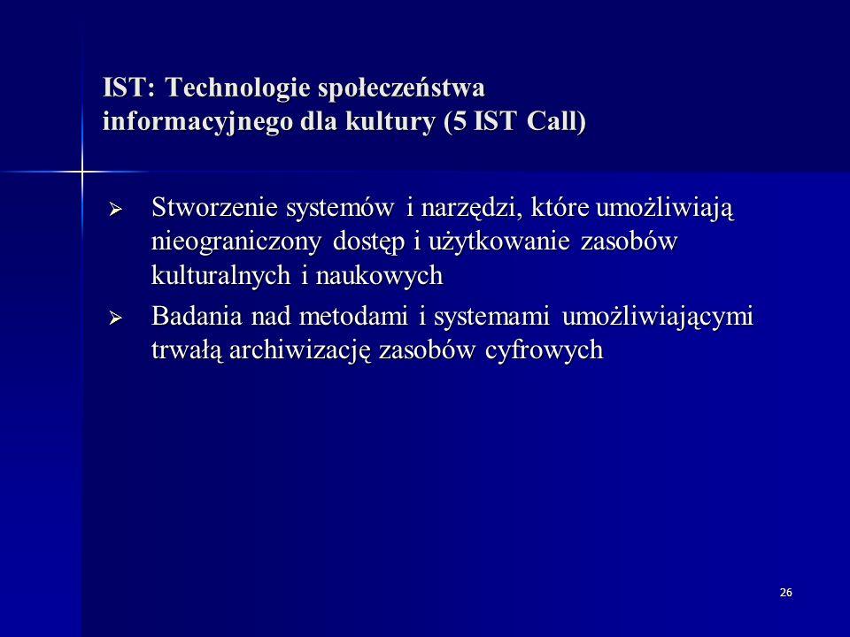 27 Statystyki (1 IST Call) IST-2002-2.3.1.12  210 złożonych wniosków (ogólnie)  z Polski 86 uczestników było zainteresowanych tym tematem (ogólna liczba polskich zespołów uczestniczących w 1 konkursie – 452)  2 polskie zespoły znalazły się w projektach, które uzyskały dofinansowanie