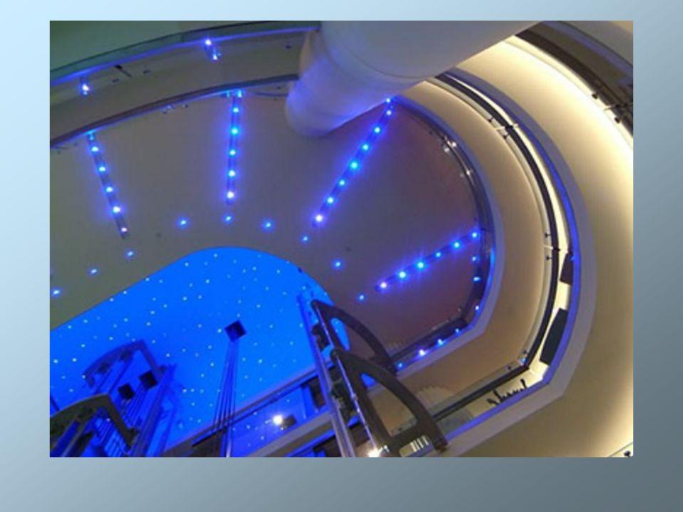 Światłowody znajdują również zastosowanie w takich miejscacach jak łazienki, sauny i baseny.