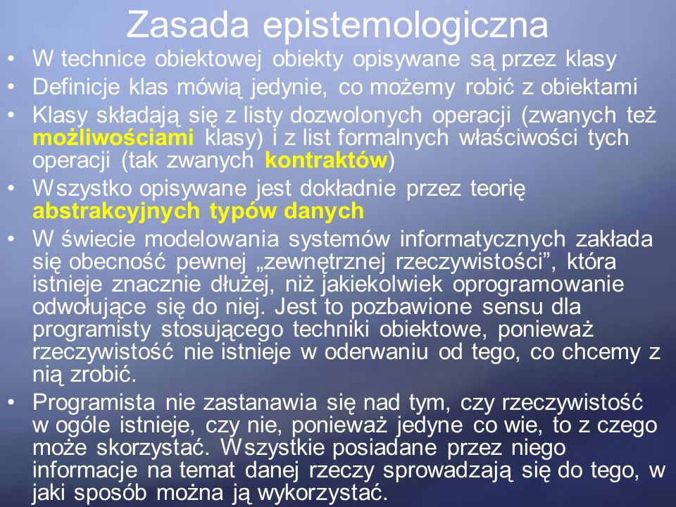 Technika klasyfikacji Wywodzi się z obserwacji, iż w każdej usystematyzowanej pracy umysłowej, a w szczególności przy prowadzenie rozważań o charakterze naukowym, konieczne jest opracowanie taksonomii dla badanych dziedzin.