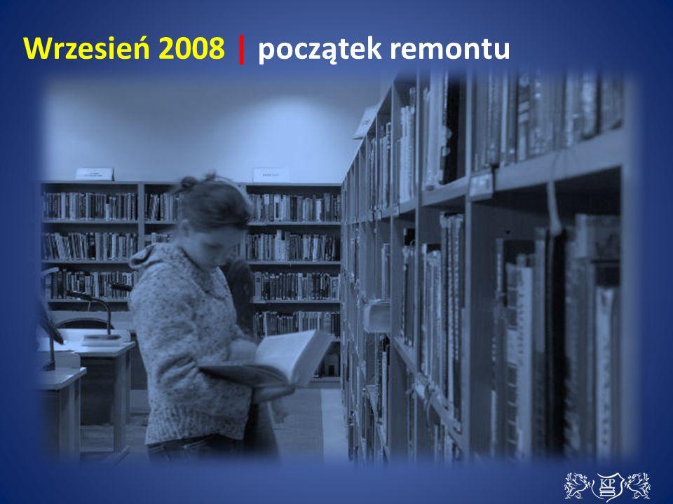 Z zabytkowego gmachu biblioteki wyprowadzono ok.