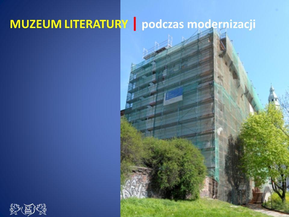 Ściana szczytowa budynku, za nią – Sala Stefana Flukowskiego Ściana szczytowa budynku, za nią – Sala Stefana Flukowskiego