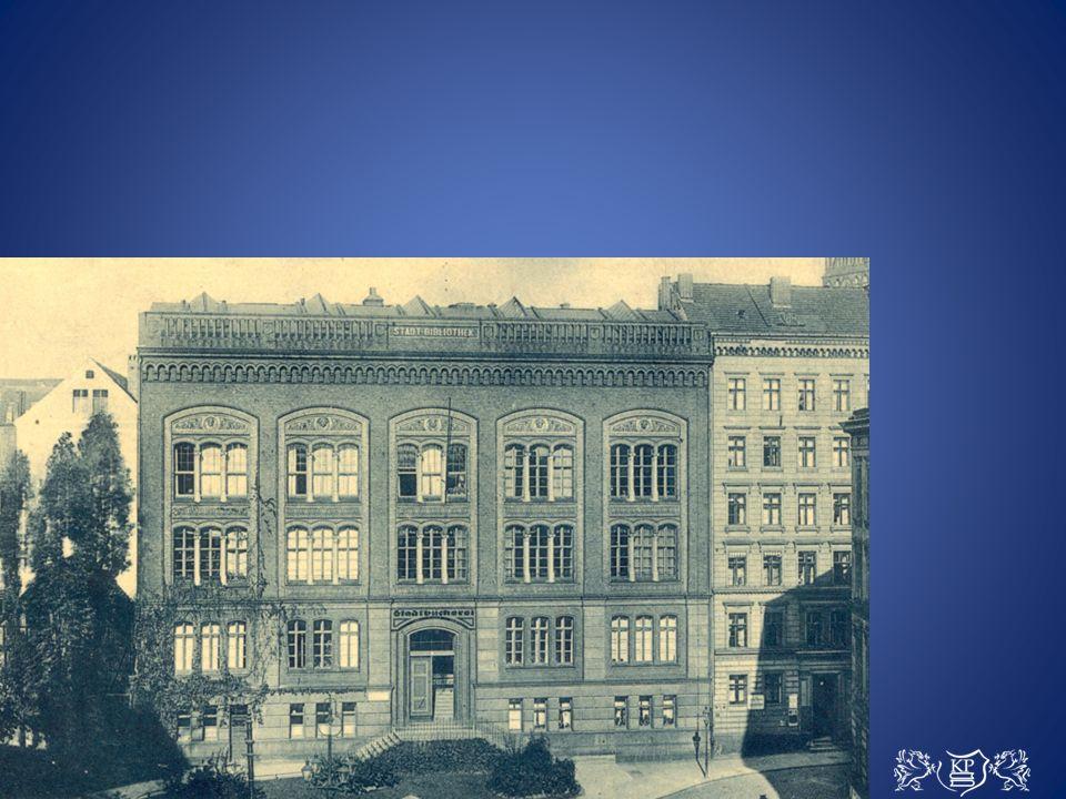 W 1905 r.biblioteka przyjęła pierwszych czytelników w wybudowanym pod koniec XIX w.