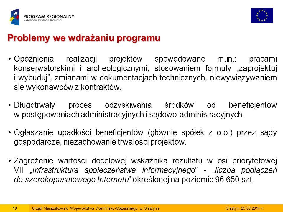 11Urząd Marszałkowski Województwa Warmińsko-Mazurskiego w Olsztynie Olsztyn, 29.09.2014 r.