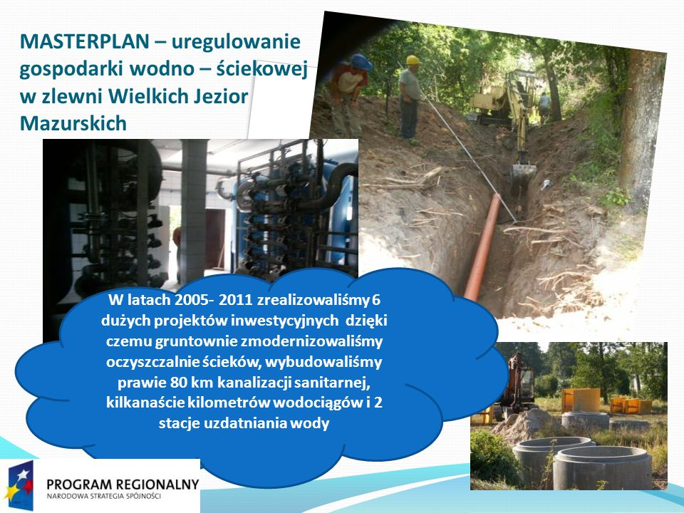 Stacja uzdatnia wody w Mikołajkach.