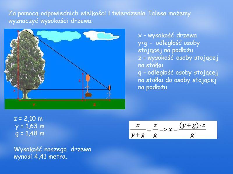 Sposób IV Jak wyznaczyć odległość drzewa, które znajduje się na przeciwległym brzegu rzeki ?
