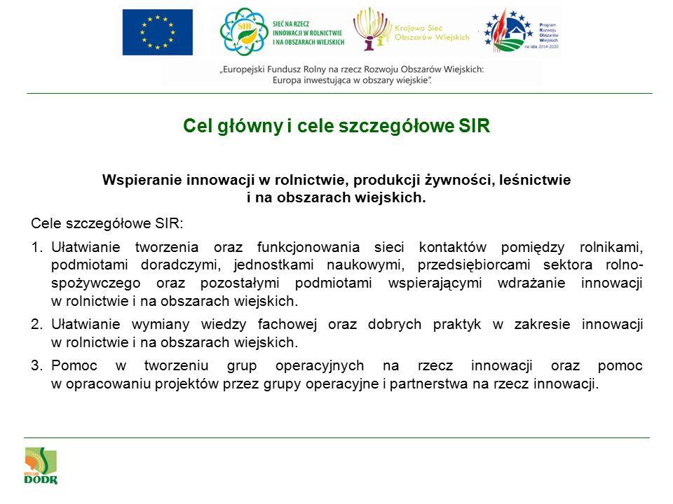 Zadania Sieci na rzecz innowacji w rolnictwie i na obszarach wiejskich, w tym zadania brokera innowacji, wykonują WODR-y umiejscowione we wszystkich 16 województwach, a koordynację wykonania tych zadań zapewnia Centrum Doradztwa Rolniczego w Brwinowie zgodnie z Rozporządzeniem Ministra Rolnictwa i Rozwoju Wsi z dnia 30 września 2015 r.