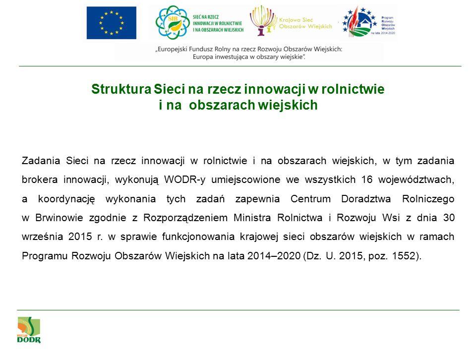 Sieć na rzecz innowacji w rolnictwie i na obszarach wiejskich (SIR) na stronie www.dodr.pl