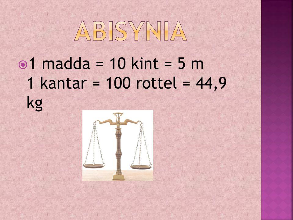  System metryczny oraz 1 arszyn = 1,12 m 1 man = 40 ka = 4,48 kg