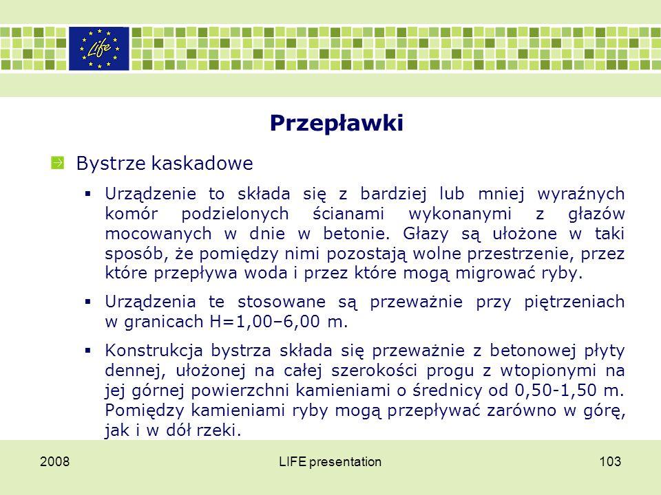 Przepławki: bystrze kaskadowe 2008LIFE presentation104