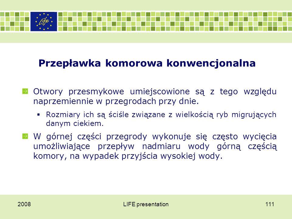 Przepławka komorowa konwencjonalna 2008LIFE presentation112