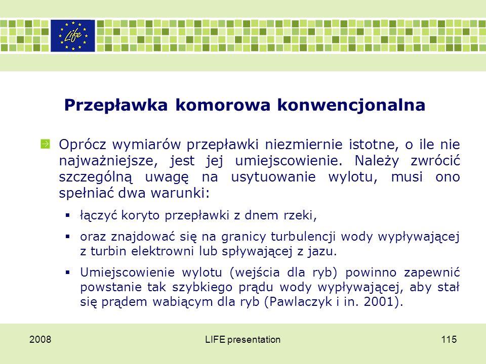 Przepławka komorowa konwencjonalna 2008LIFE presentation116