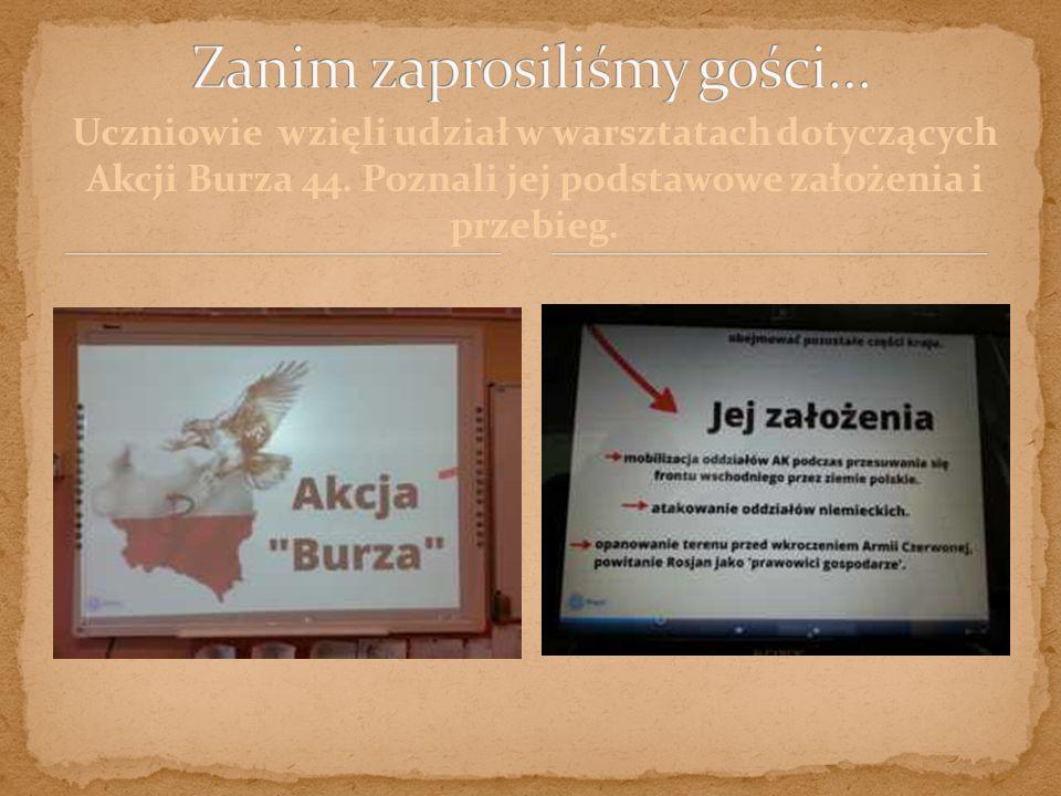 """""""Akcja Burza 44 polegała na odbiciu Polski bez pomocy Armii Czerwonej, żebyśmy się nie stali zależni od Rosji. - Szymon M."""