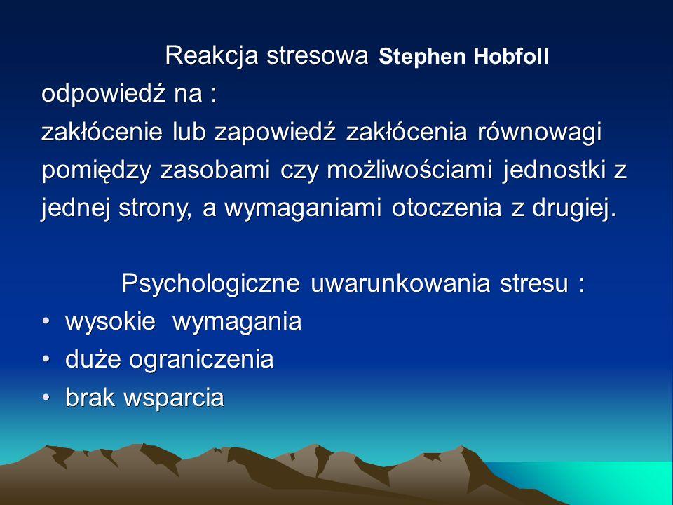 MODEL ZACHOWANIA ZASOBÓW Stephena Hobfolla Zasoby przedmiotowe mają charakter fizyczny i często służą jako symbol statusu.