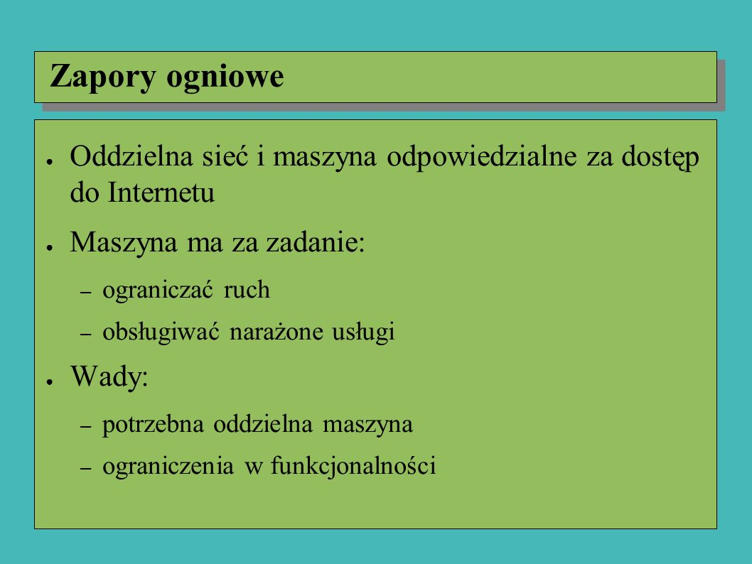 Certyfikaty ● Po części używane w programach antywirusowych ● Dystrybutor programu oblicza skrót (np.
