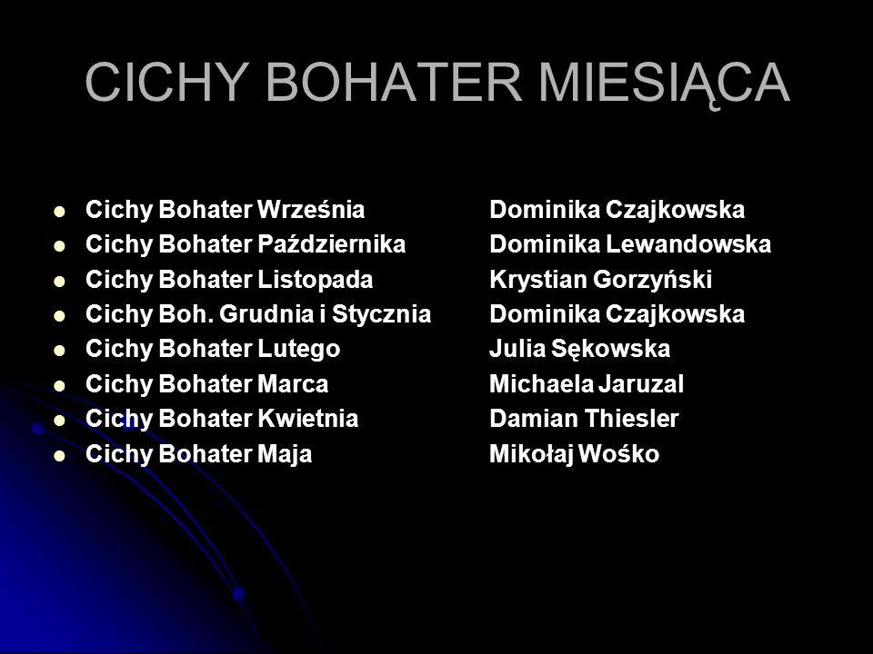CYKL KOCHAM WIEDZIEĆ 1.Szymon Dominikowski6c 2. Jakub Kozłowski5b 3.