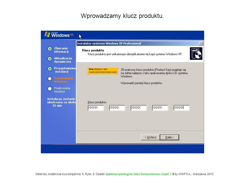 Definiujemy nazwę komputera oraz hasło administratora.