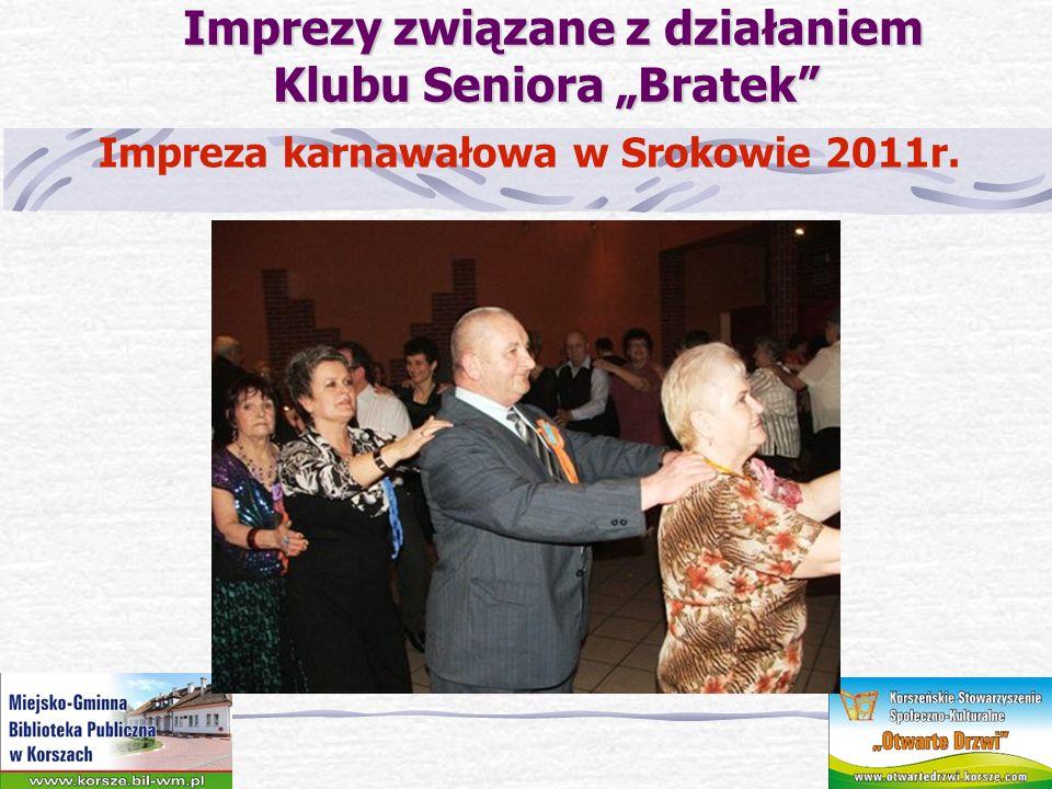 Imprezy związane z działaniem Klubu Seniora Bratek Imprezy związane z działaniem Klubu Seniora Bratek Pomyszkuj w bibliotece – koncert życzeń dla seniorów