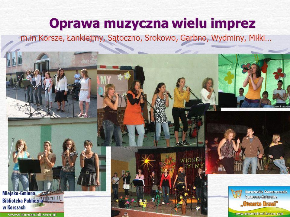 Oprawa muzyczna wielu imprez Oprawa muzyczna wielu imprez Impreza Ekologiczna Czysty Powiat; Impreza charytatywna Caritas w Olsztynie.