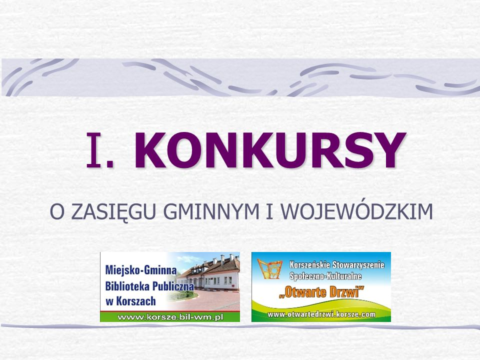 I i II Spotkanie z Kolędą i Jasełkami – konkurs o zasięgu wojewódzkim 2008-2009r.