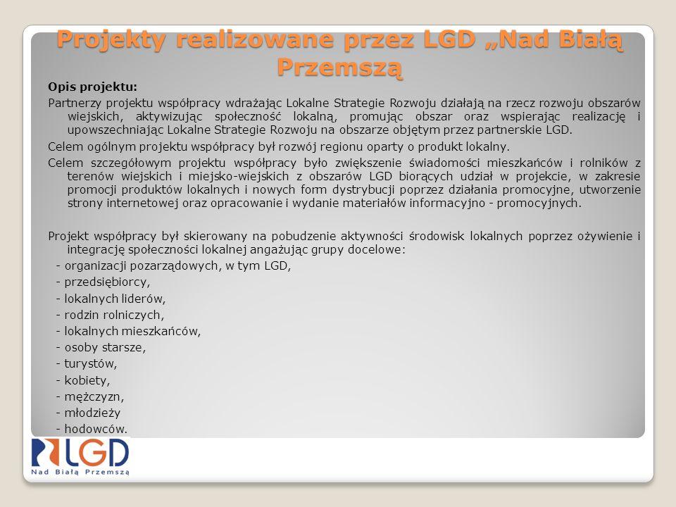 Projekty realizowane przez LGD Nad Białą Przemszą