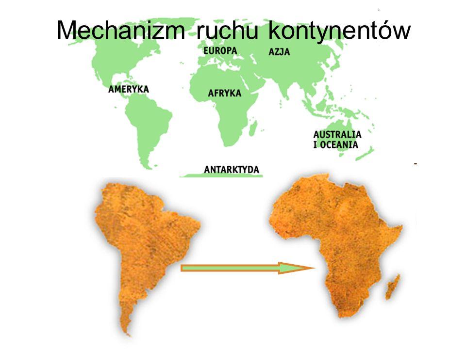 Mechanizm ruchu kontynentów – A.