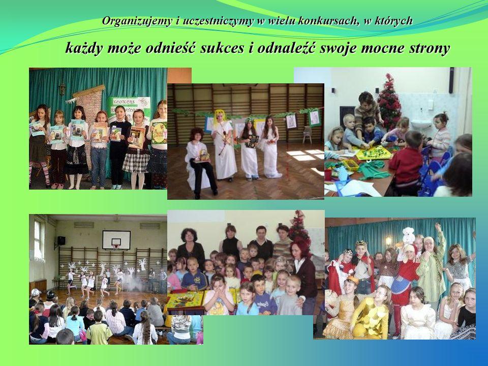 Specjalnie dla naszych najmłodszych uczniów organizujemy lubiane imprezy: