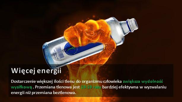 Woda tlenowa OXYGIZER znacząco obniża koncentrację kwasu mlekowego w osoczu krwi.