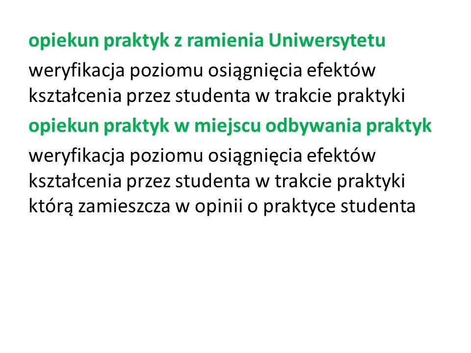 komisja egzaminacyjna weryfikacja zamierzonych efektów kształcenia poprzez prace dyplomową oraz zakres zagadnień z toku studiów opracowany przez Instytut
