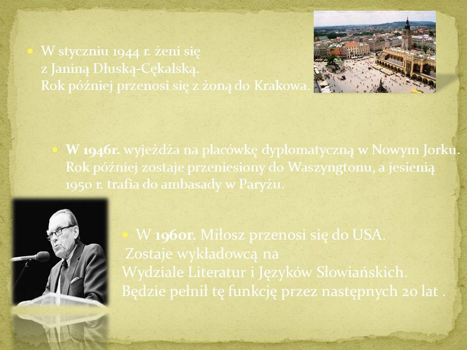 W styczniu 1944 r.żeni się z Janiną Dłuską-Cękalską.