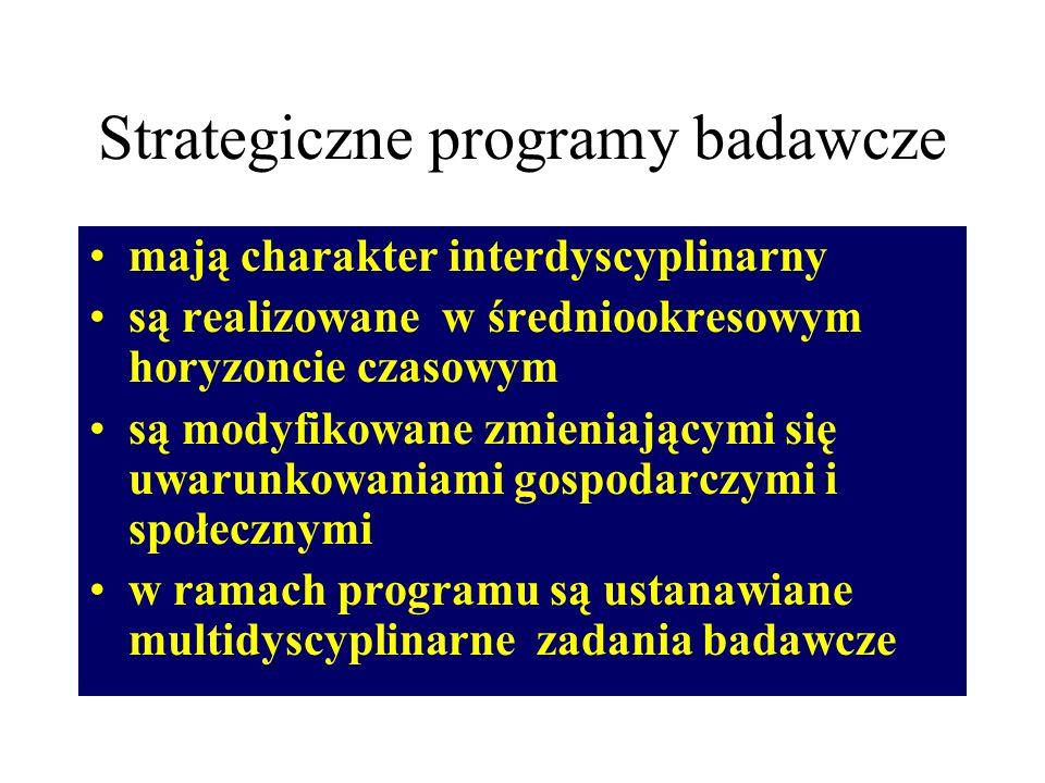 Cele programu sformułowane są w kategoriach: nowych idei technologii infrastruktury zasobów ludzkich